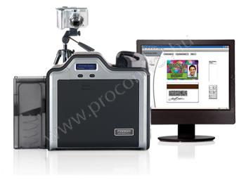 HDP5000-DS +iCLASS,MIFARE/DESFire,Contact Smart Card Encoder