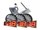 GPS ClockNet clock system with GPS controller and wireless clocks