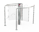 ProxerPort 3 Glass polished nickel chromium stainless steel swing gate (d=150 mm) with glass wing