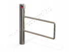 ProxerPort2 motorised and tubular swing gate made of mirror polished stainless steel